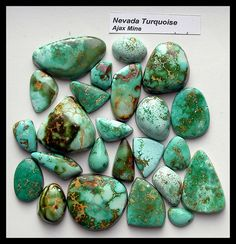 Ajax Mine Turquoise | Turquoise from the Ajax Mine in Nevada… | Flickr Minerals And Gemstones, Crystals Minerals, Rocks And Minerals, Stones And Crystals, Turquoise Stone, Turquoise Jewelry, Crystal Magic, Southwestern Jewelry, Ruby Jewelry