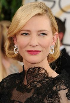 Actress Cate Blanchett wore earrings from Chopard sustainable collection, Green Carpet, when receiving the best actress award at the Golden Globes 2014. Made with gold and diamonds from responsible origins, the accessories represent the next step in the journey of Chopard for sustainable luxury.