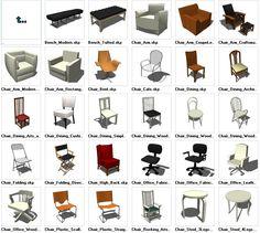 Sketchup Seating 3D models download – CAD Design | Free CAD Blocks,Drawings,Details