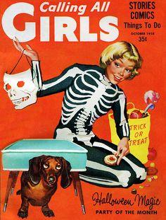 31 Days ofHalloween pin-ups 12/31Calling All Girls Magazine, October 1958
