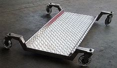 """All aluminum shop creeper. I built it because I was tired of creepers with tiny wheels and padding that easily burns. It features 4"""" caster wheels and has 3/4"""" ground clearance for a low profile. Contributed by: C. Maurer. To find and share additional welding project ideas & plans, visit: www.millerwelds.com/interests/projects/"""