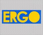 ERGO Clothing stickers - yellow logo bumper