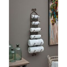 Towel storage bathroom comes in immense options that will blow your mind. Grab some inspiring ideas of savvy towel storage for bathroom only right here! Bathroom Towel Storage, Bathroom Towels, Bathroom Organization, Bathroom Wall, Bath Towels, Pool Towels, Bamboo Bathroom, Bathroom Curtains, Bathroom Vanities