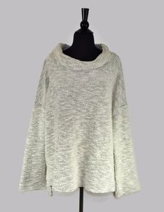 9d9628905d5 Eileen Fisher Cream Knit Women s Cowl Neck Oversized Sweater Size Extra  Large XL  EileenFisher
