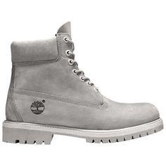 Timberland Men's 6-Inch Premium Waterproof Boots (Monochromatic Grey Nubuck)