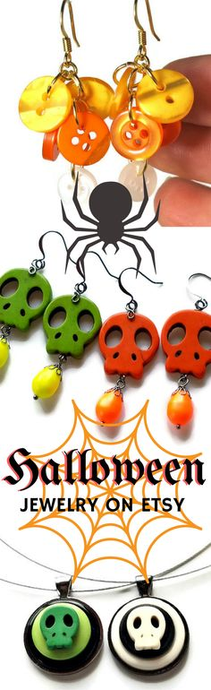 Click to see handmade jewelry for Halloween->…
