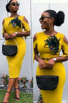 African Short Dresses Gown Styles 2019 By Diyanu Classy Dress, Classy Outfits, Chic Outfits, Fashion Outfits, Dress Outfits, Fashion Ideas, Latest African Fashion Dresses, African Print Fashion, Africa Fashion