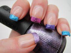 MULTI-COLORED Glitter Tips !!