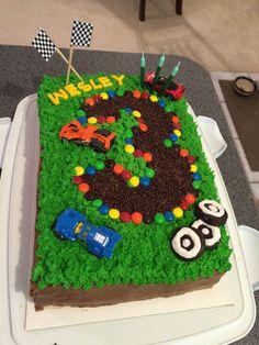 Wesley's 3rd Birthday race car cake