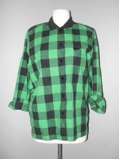Amazing Greens, Vintage Clothing Stores, Green Print, Eccentric, Vintage Outfits, Men Casual, Blouse, Mens Tops, Clothes
