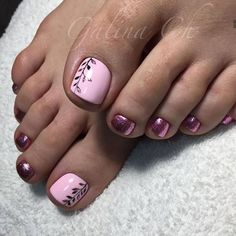 Trendy Beach Pedicure Ideas Zehennägel Sommer - Projects to try - manicure Pink Toe Nails, Pretty Toe Nails, Toe Nail Color, Cute Toe Nails, Summer Toe Nails, Feet Nails, Toe Nail Art, My Nails, Pretty Toes