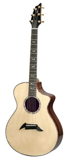 Breedlove Master Class Exotic Acoustic Guitar - Red Spruce top with back and sides made of striped ebony