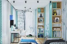 modernes kinderzimmer design ideen regale wandgestaltung tiere #kids #bedroom