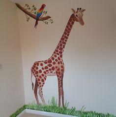 Media Tweets by Custom Murals (@CustomMuralsUK) | Twitter #jungle #nursery #bedroom #mural #giraffe
