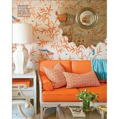Pinterest / Search results for orange rooms ❤ liked on Polyvore