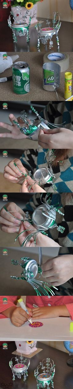 Miniaturas con latas de refrescos - Javies.com Thumbnails - Make Chairs with cans of soft drinks