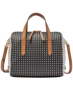Fossil Sydney Satchel In Grey White Macy S 138