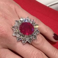 """119 Likes, 2 Comments - The Jewellery Editor (@thejewelleryed) on Instagram: """"An estate-worthy sparkle. This 15.09 carat unheated Burmese ruby has been re-cut from an estate…"""""""