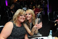 Melissa and Kelly with our award!! #khhairmansfield #hair #awards