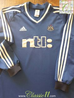 Relive Newcastle United's 2001/2002 season with this vintage Adidas away football shirt.