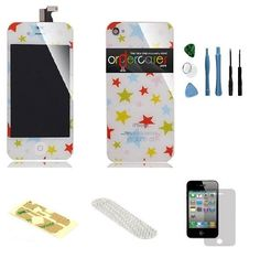 Iphone 4S Complete Color Change Kit (Stars) #http://www.pinterest.com/ordercases/