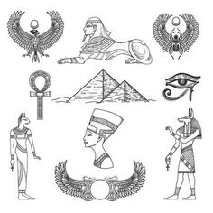 egypt tattoos and symbols and meanings Egyptian Eye Tattoos, Egyptian Tattoo Sleeve, Egyptian Drawings, Inka Tattoo, Simbolos Tattoo, Tattoo Fonts, Horus Tattoo, Anubis Tattoo, Tattoo Sketches