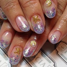 Glitter Tips ! #nails #nailart