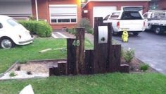 railway sleeper letterbox - Google Search