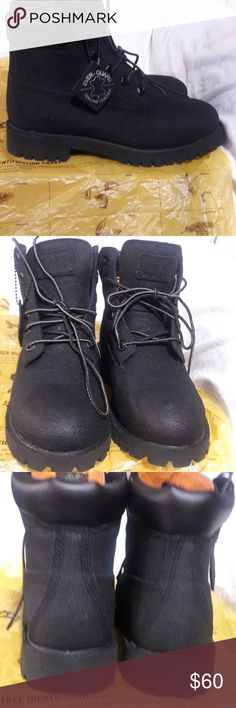 Timberland boots Scuff proof waterproof boots Timberland Shoes Rain   Snow  Boots Black Timberlands 781126eafcc
