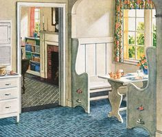 1920s Kitchen Gallery - Kitchen flooring, cabinetry, nooks, and plumbing - Vintage Kitchen Design Inspiration