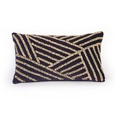 "Nanette Lepore Skin Rustic Beads Decorative Pillow, 9"" x 16"""