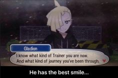 - I dont know why, but I love this guy. His smile and that pose he dose when you battle him (his hand thing)