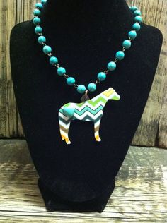 Custom Pattern Show Horse Necklace | Showring Silhouettes