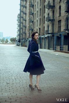 Marion Cotillard by Peter Lindbergh, American Vogue Aug 2012.