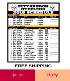 Best 25 Steelers Football Schedule Ideas On Pinterest