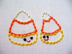 Candy Corn embroidery