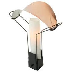 Arteluce 'Palio' Table Lamp with  Copper & Glass Shade , 1985, Italia