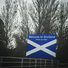 Always makes me feel good seeing this  #welcometoscotland #failtegualba #scottishborder #scotland #picoftheday #iphone6