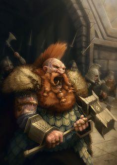 Dain pie de hierro by on DeviantArt Fantasy Dwarf, Fantasy Warrior, Fantasy Rpg, Medieval Fantasy, Dark Fantasy, Character Inspiration, Character Art, Character Design, Character Portraits