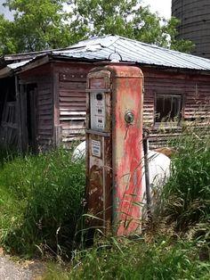 Gas pump near Vergennes, VT! Photo by Lisa A. White