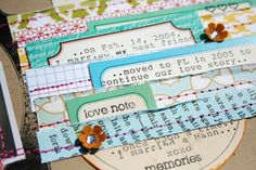 love these layered notes, tags, tabs...