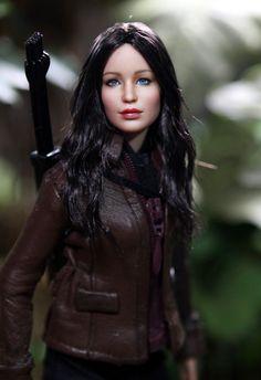 OOAK Jennifer Lawrence Hunger Games Katniss Everdeen doll repaint by Noel Cruz