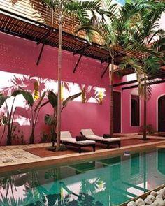 Perfect pink & green inspiration from the gorgeous @rosasandxocolate in Mérida, Yucatán! // @vagabondcompany
