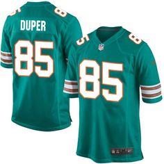 Men's Nike Miami Dolphins #85 Mark Duper Game Aqua Green Alternate NFL Jersey