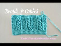 ▶ Braided Cable Crochet Stitch - YouTube