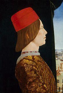 Giovanni II Bentivoglio - Metà sinistra del Dittico Bentivoglio, di Ercole de' Roberti ~ Married Genevra Sforza