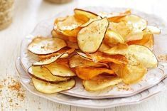 Slice and fry in-season sweet potato to create tasty crisps for an easy afternoon snack. The post Sweet potato crisps with chilli-lime salt appeared first on Dessert Park. Delicious Vegan Recipes, Yummy Snacks, Snack Recipes, Cooking Recipes, Easy Recipes, Yummy Food, Healthy Chip Alternative, Sweet Potato Crisps, Potato Chips