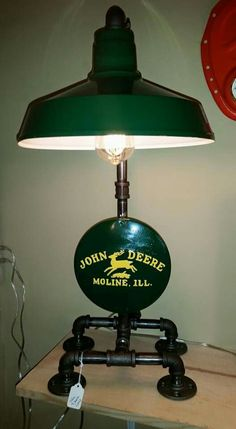 John Deere Lamp man cave/steampunk lamp facebook.com/tanglewoodironMan Cave Ideas  : More Pins Like This At FOSTERGINGER @ Pinterest