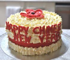Last minute buttercream ruffle cake for 2013 Chinese New Year celebration
