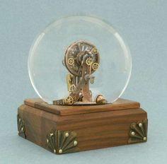 Alternative Artisan Snow Globes : camryn forest designs steampunk snowglobe